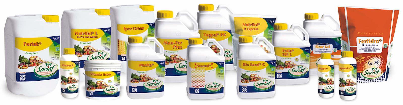 nutrizione prodotti Sariaf Gowan 2016