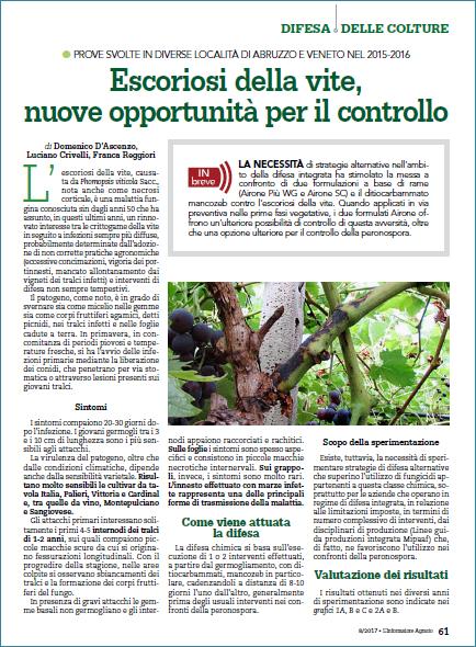 Calendario Dei Trattamenti Della Vite 2019.News Gowan Italia
